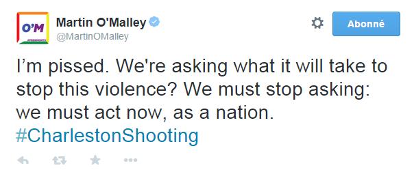Traduction: Je suis furieux. Nous nous demandons ce qu'il faut faire pour stopper cette violence? Nous devons arrêter de nous demander: nous devons agir maintenant, en tant que nation.