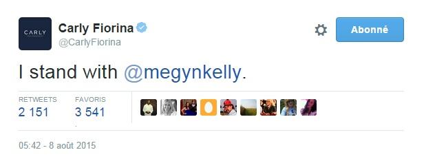 Traduction; Je soutiens Megyn Kelly.