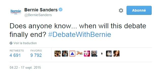 Traduction: Est-ce que quelqu'un sait... quand ce débat va enfin se terminer?