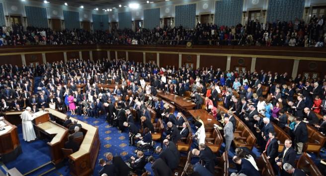 Le pape François s'exprime devant le Congrès américain