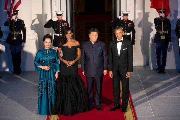 Les couples présidentiels américains et chinois à la Maison Blanche