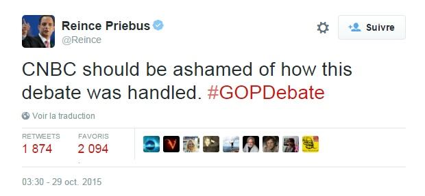 Traduction: CNBC devrait avoir honte de la manière dont le débat a été géré.