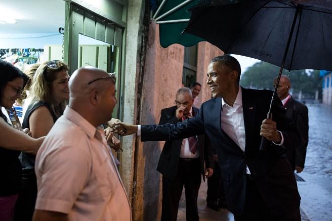 Barack Obama dans les rues de La Havane (Photo officielle Maison Blanche)