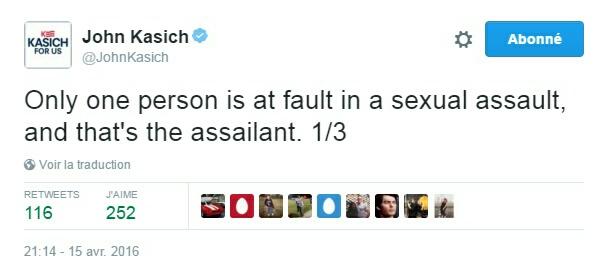 Traduction: Il n'y a qu'une seule personne fautive lors d'une agression sexuelle, et il s'agit de l'agresseur.
