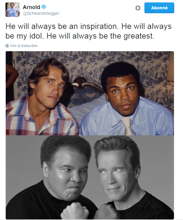 Traduction: Il sera toujours une inspiration. Il sera toujours mon idole. Il sera toujours le plus grand.