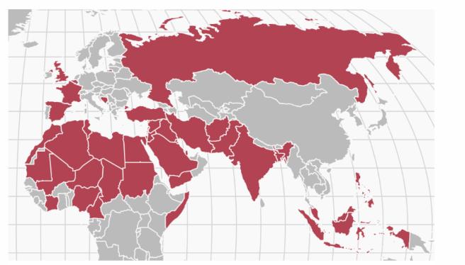 Les quarante pays qui pourraient être concernés par l'interdiction d'accès au territoire américain sous la présidence de Donald Trump, d'après CNN