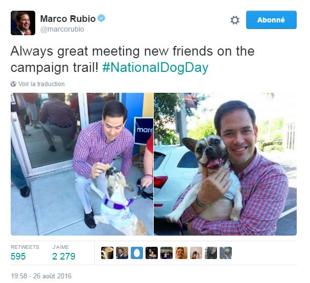 Traduction: Toujours agréable de se faire de nouveaux amis pendant la campagne!
