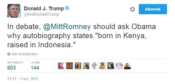 """Traduction: Lors du débat, Mitt Romney devrait demander à Obama pourquoi son autobiographie mentionne """"né au Kenya, élevé en Indonésie""""."""