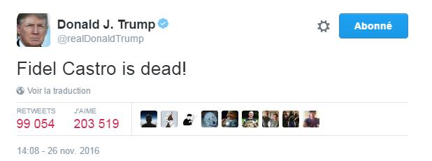 Traduction: Fidel Castro est mort!