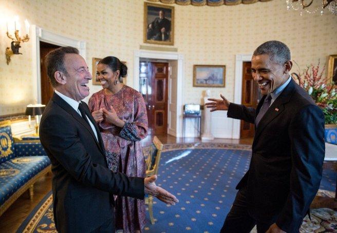 Barack Obama et Bruce Springsteen à la Maison Blanche