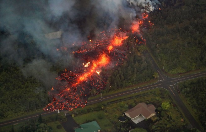 Hawaii's Kilauea Volcano eruption, Pahoa, Usa - 05 May 2018